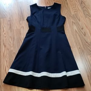 Calvin Klein Dress, Navy, Black, white